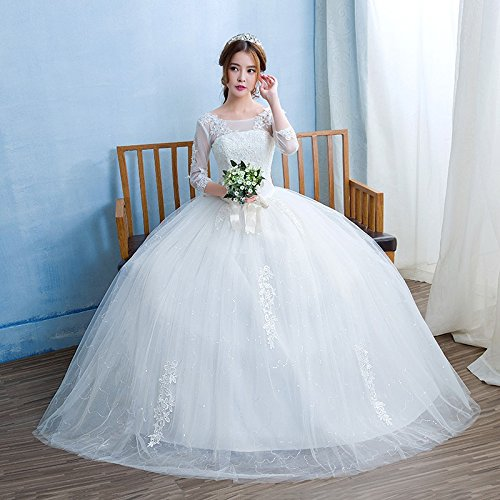 Christian Ball Gown Wedding Dress/Catholi Gowns/White Wedding Frock ...