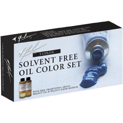 M. Graham Tube Oil Paint Basic Color 5-Color Set with Walnut Alkyd and Walnut Oil Medium, 1.25-Ounce by M. Graham & - Walnut Graham Oil