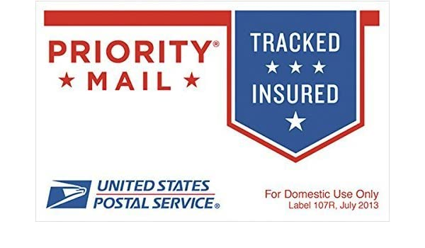 USPS Envelope Mailer Priority Mail Sticker LABEL 107R - Roll