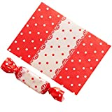 Blancho Bedding 500PCS Candy Wrappers Caramel Wrappers Packaging Bags Twisting Wax Paper 9x12.5cm, Q