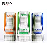 Nano Toys 2015 Men's Japan Av Star Sexual Training Masturbation Cup Real Skin Silicone Pussy Anal Oral Sex Sex Toy Shooter Series 3 Pcs/set