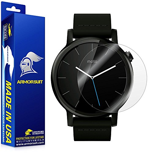 ArmorSuit MilitaryShield - Motorola Moto 360 42mm 2nd Generation 2015 Screen Protector [Full Coverage][2 Pack] Anti-Bubble Ultra HD Shield w/ Lifetime Replacements