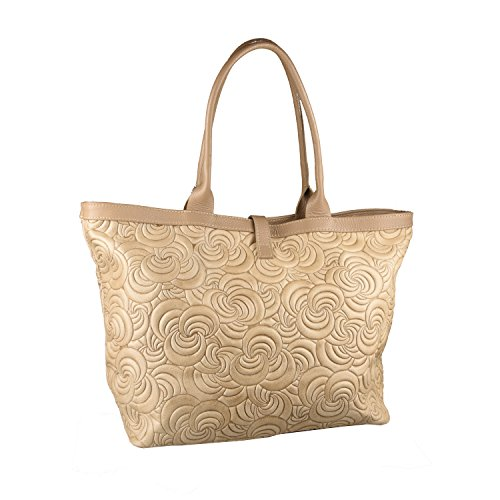 Conti of Tuscany Borsa Shopper In Vera Pelle - Xian Beige