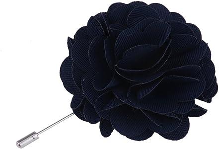 Broche de Flor Peonía Afiler de Corbata Azul Marino Manualidades ...