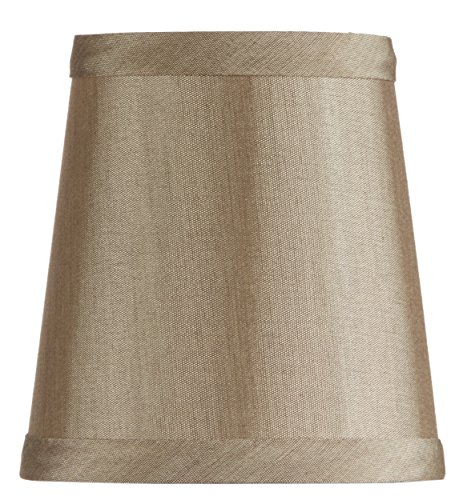 Upgradelights Bronze Silk 4 Inch Mini Clip On Chandelier Lamp Shade 2.5x4x4 Antique Bronze Hardback Shades