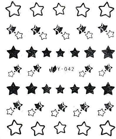 NB24 1 pliego de pegatinas diseño con estrellas plateadas (Y ...