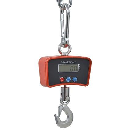vidaXL Báscula de Grua Electrónica 300kg Herramientas Medición Pesos Balanza