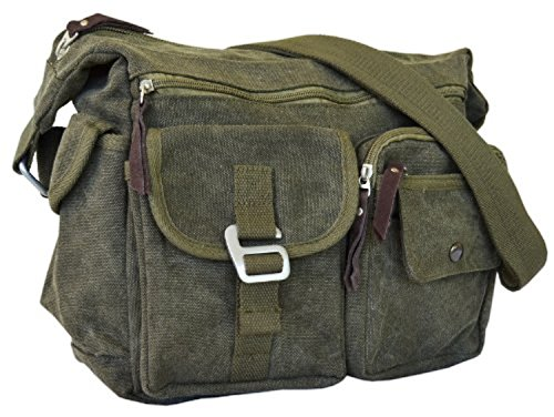 209972dbfc9cf Vintage Classic Army Messenger Heavy Weight Over the Shoulder Bookbag Bag.  by Serbags