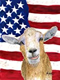 Caroline's Treasures RDR3028CHF USA American Goat Flag Canvas, Large, Multicolor