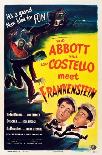 Abbott Costello Meet Frankenstein Movie Poster 24x36