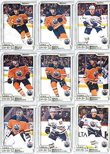 2018-19 O-Pee-Chee Hockey Edmonton Oilers Team Set of 17 Cards: Connor McDavid(#1), Pontus Aberg(#73), Jesse Puljujarvi(#90), Ryan Strome(#127), Zack Kassian(#142), Matthew Benning(#178), Jujhar Khaira(#202), Ryan Nugent-Hopkins(#219), Cam Talbot(#236), Michael Cammalleri(#261), Oscar Klefbom(#294), Adam Larsson(#310), Kris Russell(#342), Darnell Nurse(#401), Milan Lucic(#425), Drake Caggiula(#468), Leon Draisaitl(#486), plus more ()