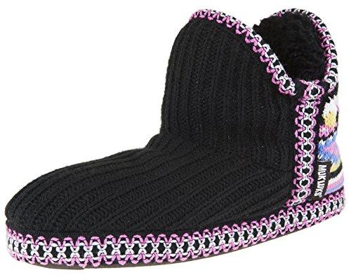 MUK LUKS Women's Amira Short Slipper Bootie (M / 7-8 B(M), Multi Black)