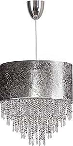 BOLZANO I Modern Design Lampara de techo colgante Lampara de arana (E27, 60W) pantalla cristallo