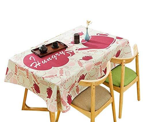 rose 140200CM GFF Nappe créative, Nappe d'art de Salon en Tissu de Nappe d'impression Circulaire de Nappe de Restaurant de Nappe de Fleurs 85-240CM Pas FacileHommest Sale (Couleur  Rose, Taille  140  200CM)