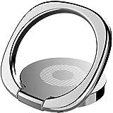Baseus スマホ ホールドリング 360度回転 指1本で保持・落下防止 3mm極薄 携帯リング スタンド マグネット車載ホルダー対応(シルバー)