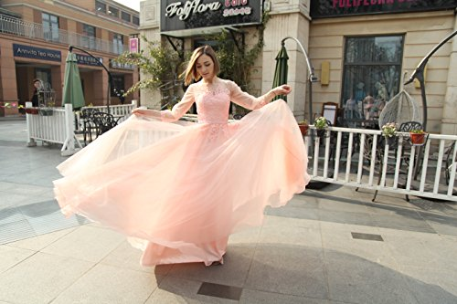 Ballkleid Prinzessin Linie brautjungfer Abendkleid Rosso A kleid Schnuerung Party Tuell Damen langes Vickyben Cocktail ApRq8wU
