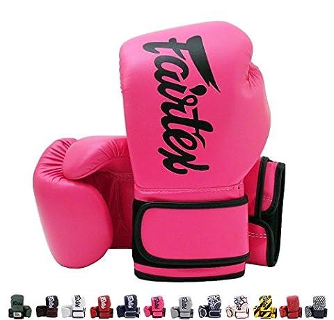 Fairtex Muay Thai Boxing Gloves BGV14 Pink w/black trim 14 oz Universal All Purposes Training Gloves for Kickboxing MMA (Fairtex Muay Thai Ankle Supports)