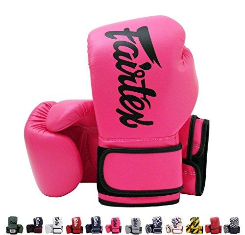 Fairtex BGV14 Microfibre Boxing Gloves Muay Thai Boxing, MMA, Kickboxing,Training Boxing Equipment, Gear for Martial Art (Pink, 14 -