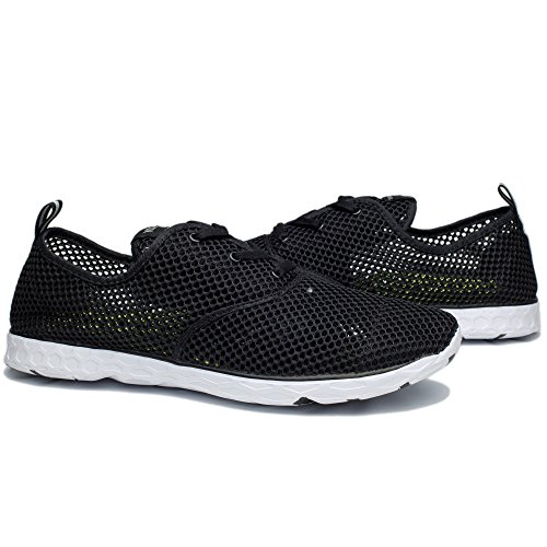 NeedBo Mesh Shoes Water Black Shoes Lightweight Quick Drying Men's White Breathable Aqua Walking aZRaTwq