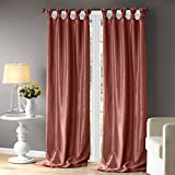 Cheap Madison Park Spice Curtains for Living Room, Transitional Curtains for Bedroom, Emilia Solid Window Curtains, 50X120, 1-Panel Pack