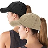 Women Baseball Cap Ponytail Hat High Bun Sun Hats Trucker Hat