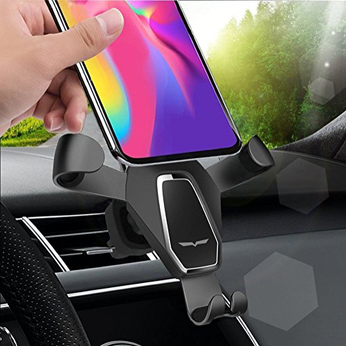 BONBON Car Phone Mount Holder Universal Gravity Auto Clamping Air Vent Cellphone Car Stand Compatible iPhone X 8 8 Plus 7 7 Plus SE 6s 6 Plus 6 5s 5 4s 4 Samsung Galaxy S6 S5 S4 LG Nexus Sony Nokia Mo