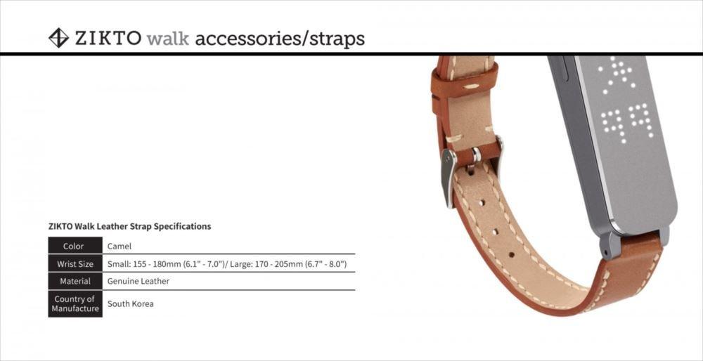 MU Sports Zikto Walk Leather Strap Camel Large (List Size: 17-20.5 cm) Golf Wear/Women's Vest/Women's Complete Sets/Golf-Club-Complete-Sets by MU Sports (Image #4)