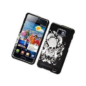 Samsung Galaxy S2 S II AT&T i777 Attain i9100 Black White Skull Angel Cover Case