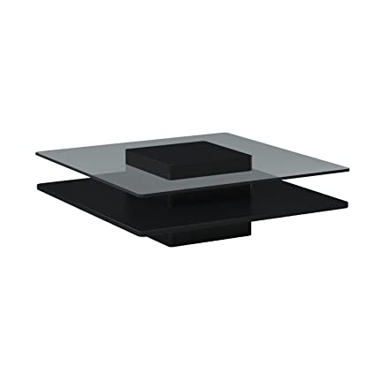 New Spec Inc 387822 Modern Coffee Table With Square Glass Top Wenge
