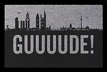 Fuãÿmatte Flur | Schmutzmatte Fussmatte Guuuude Frankfurt Flur Geschenk Einzug Lustig