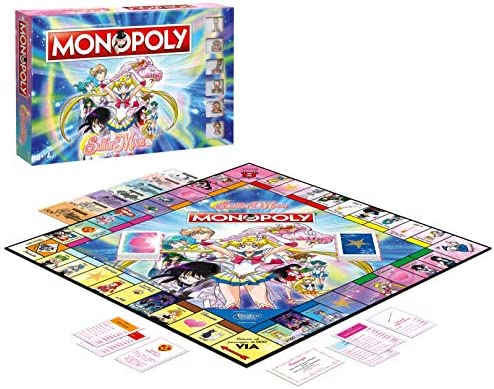 Winning Moves Sailor Moon Monopoly - Italy Merchandising Ufficiale: Amazon.es: Deportes y aire libre