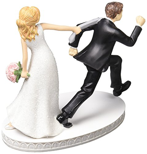 41u%2BnxL%2BVeL Amscan Comical Tie Puller Wedding Cake Topper Party Supplies (2 Piece), Tie Puller Cake Topper, 4 1/8 Inch