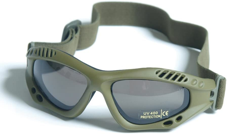 MIL-TEC AIR PRO COMMANDO GOGGLES - OLIVE GREEN