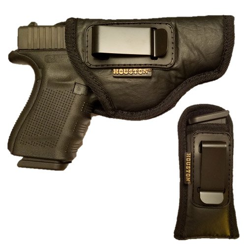 Combo ECO Leather Concealment Gun Holster + Magazine Holster IWB with Metal Clip Fits Glock 19/23 / 32,Walters PK 380 / PPS/CCP, Ruger SR9 C,S&W M&P c,H&K c (Right) (CHP-57G+CHMP5)