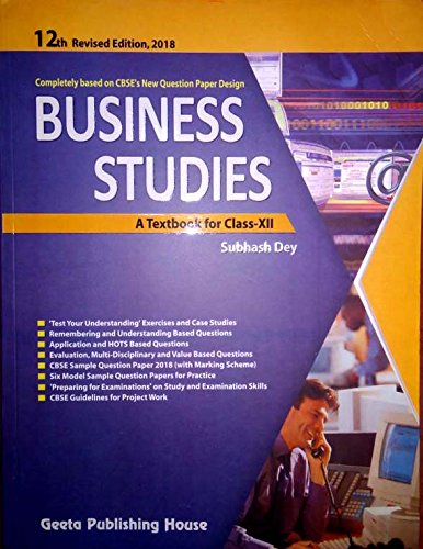BUSINESS STUDIES FOR CLASS 12: Amazon in: SUBHASH DEY: Books