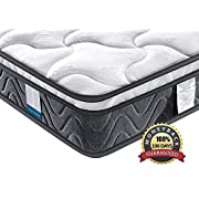 #LightningDeal Inofia Super Comfort Hybrid Innerspring Mattress with 3D Knitted Dual-Layered, 8''