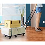 Boshen 440lb Heavy Duty Luggage Cart Dolly Folding