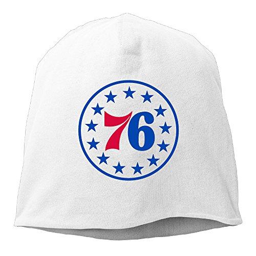 [Caromn Philadelphia Basketball 76ers Beanies Skull Ski Cap Hat White] (Ben Franklin Adult Mens Costumes)