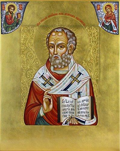 amazon com icon st nicholas the wonderworker orthodox icons