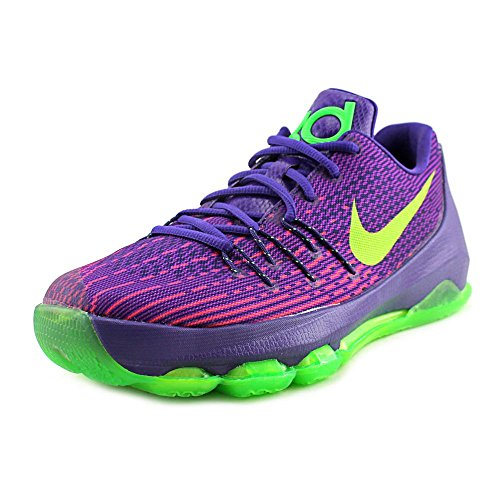 NIKE Youth Kevin Durant KD 8 Boys Basketball Shoes Court Purple/Green Strike 768867-535 Size 7