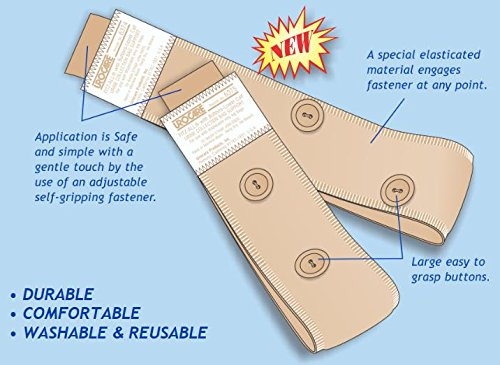 (Urocare® Fitz-All® Fabric Leg (Bag) Strap Kit with buttons, (Contains: Lower #6375 & Upper 6374))