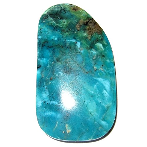 SatinCrystals Turquoise Cabochon Collectible Superior Blue Old Kingman Mine American Gemstone Authentic Arizona Stone C50 (1.7