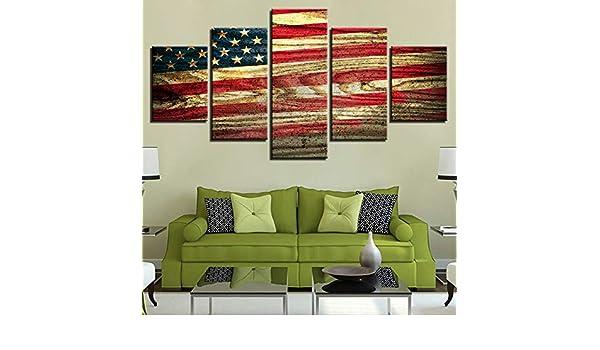 HD Decoración del hogar Cartel Moderno Arte de la Pared Lienzo 5 Paneles Ciudad Edificio Vista de Noche Sala de Estar Impreso Cuadros Pintura Marco 5 40x60 40x80 40x100cm: Amazon.es: Hogar