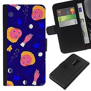 All Phone Most Case / Oferta Especial Cáscara Funda de cuero Monedero Cubierta de proteccion Caso / Wallet Case for LG G2 D800 // Space Abstract Moon Child Mother Mon