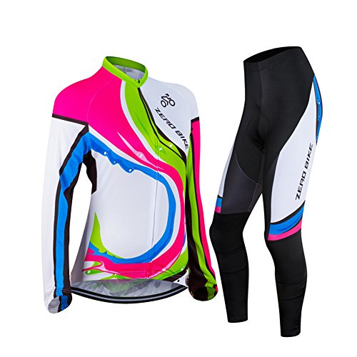 ZEROBIKE® Womens Long Sleeve Cycling Outdoor Sports Jersey Polyester Full Zip Autumn