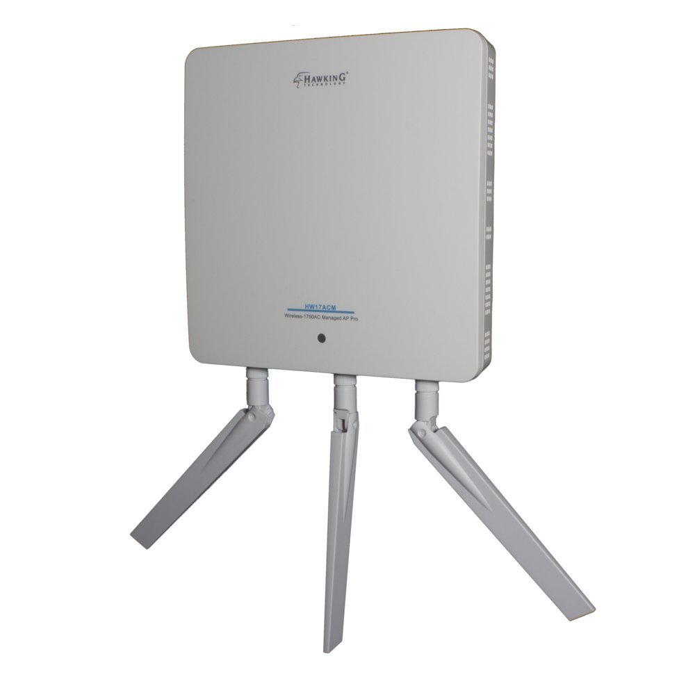 Hawking Technology Wireless-1750AC Managed AP Pro Wireless-AC Concurrent Wall-Mount Access Point (HW17ACM)
