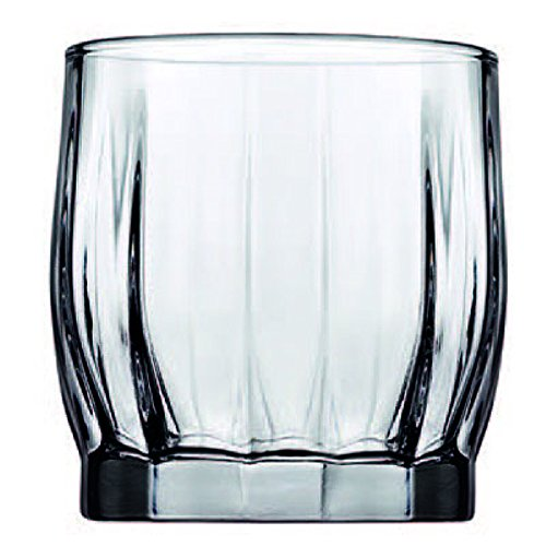 Pasabahce Glass Whisky, 370 Ml, Set of 6  Clear