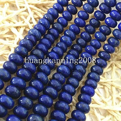 FidgetKute Natural Stone Lapis Lazuli 4 Shape Coin Barrel Heart Loose Beads 15