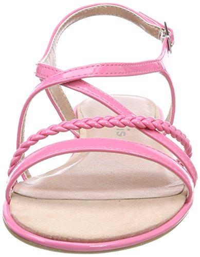 Rose Bride Noir Pink Femme Sandales Tamaris Arrière Patent 28129 vx1n6Y