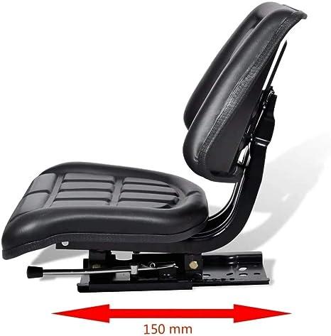 Vidaxl Universal Traktorsitz Mit Rückenlehne Traktor Schleppersitz Treckersitz Baumarkt